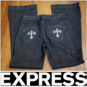 Express Eva Fit & Flare Jeans